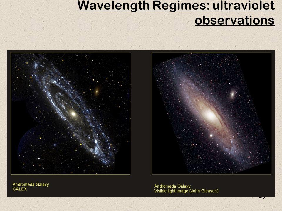 45 Wavelength Regimes: ultraviolet observations