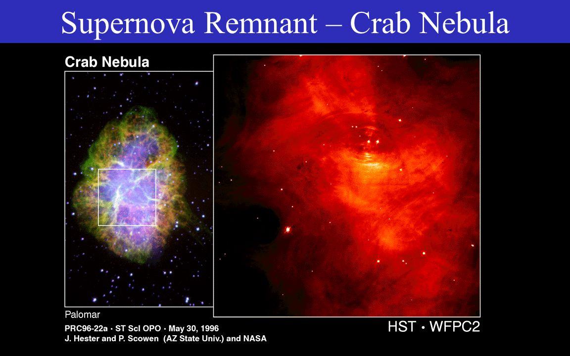 Supernova Remnant – Crab Nebula