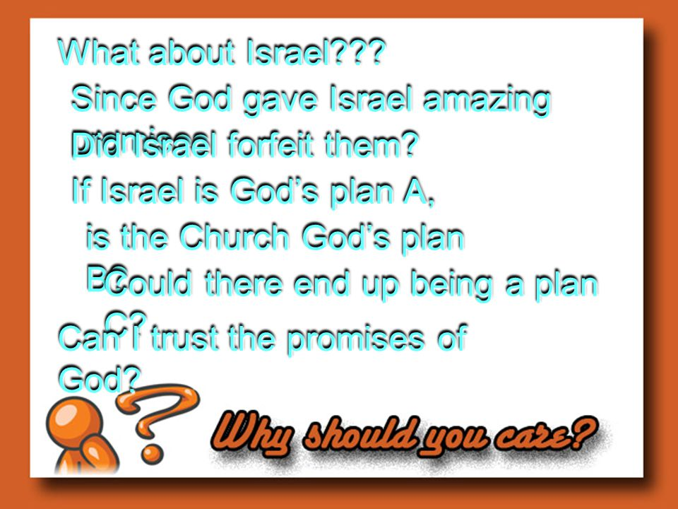 Is God done with Israel.Personal Proof 11:1 NO!!!!NO!!!.