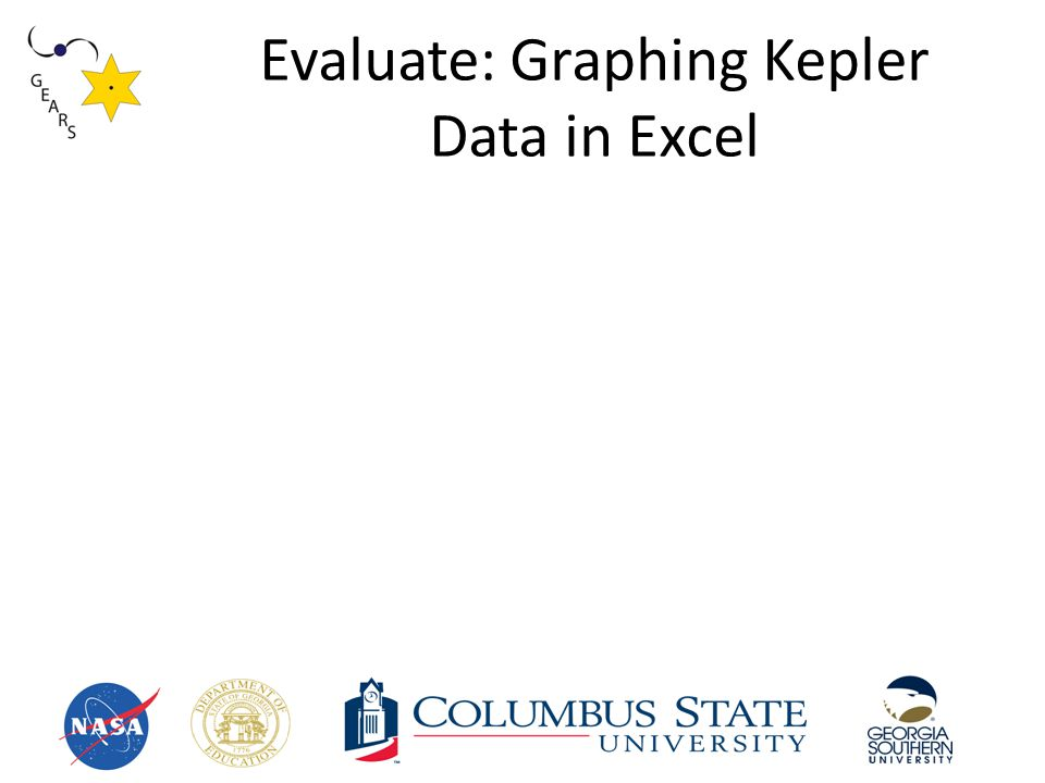 Evaluate: Graphing Kepler Data in Excel