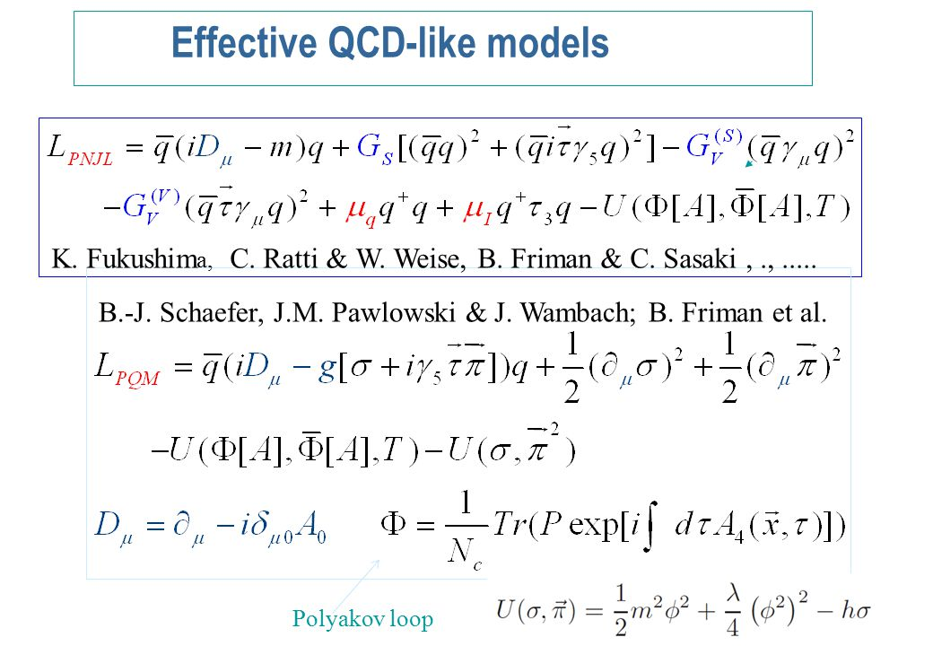 The order parameter in PQM model in FRG approach For a physical pion mass, model has crossover transition Essential modification due to coupling to Polyakov loop The quantum fluctuations makes transition smother Mean Field dynamics FRG results QM PQM QM PQM