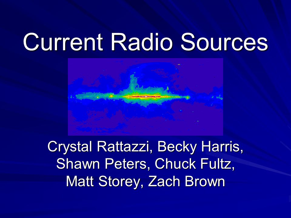 Current Radio Sources Crystal Rattazzi, Becky Harris, Shawn Peters, Chuck Fultz, Matt Storey, Zach Brown