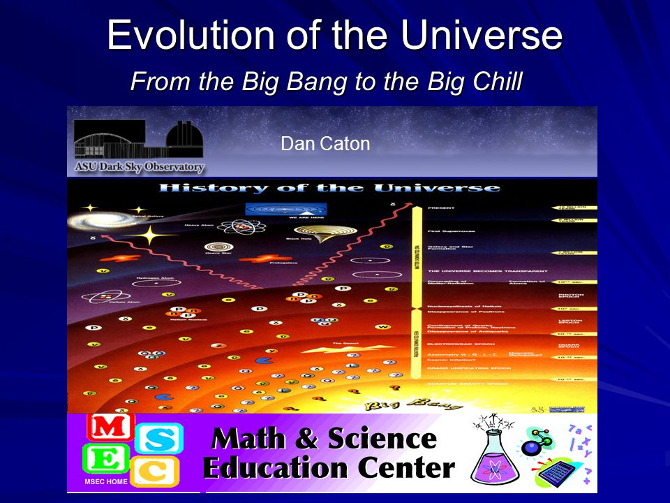 Evolution of the Universe From the Big Bang to the Big Chill Dan Caton