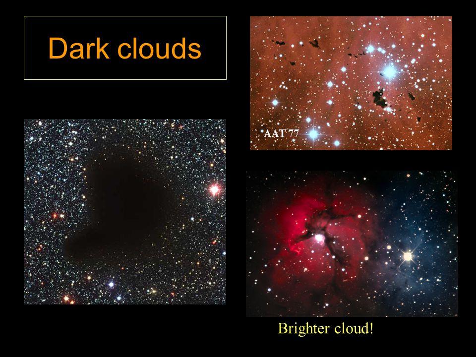 Dark clouds Brighter cloud!