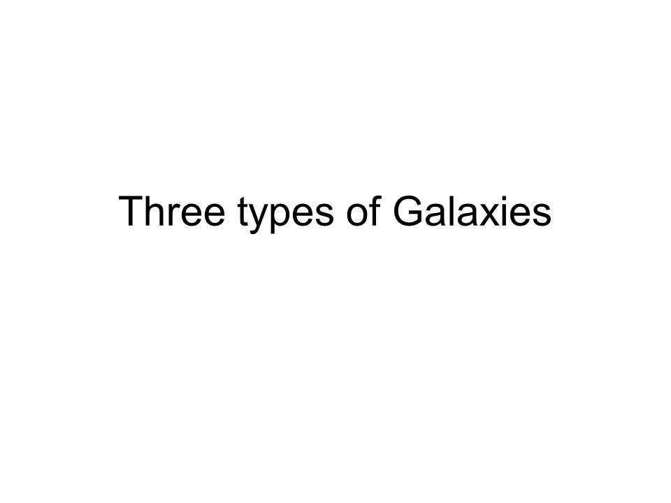 Three types of Galaxies