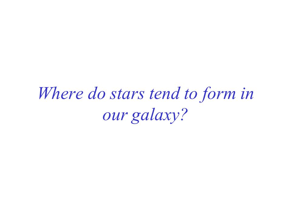 Where do stars tend to form in our galaxy