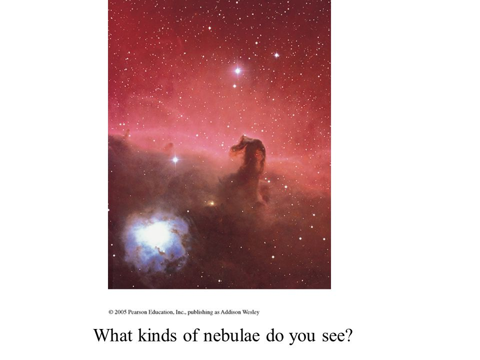 What kinds of nebulae do you see