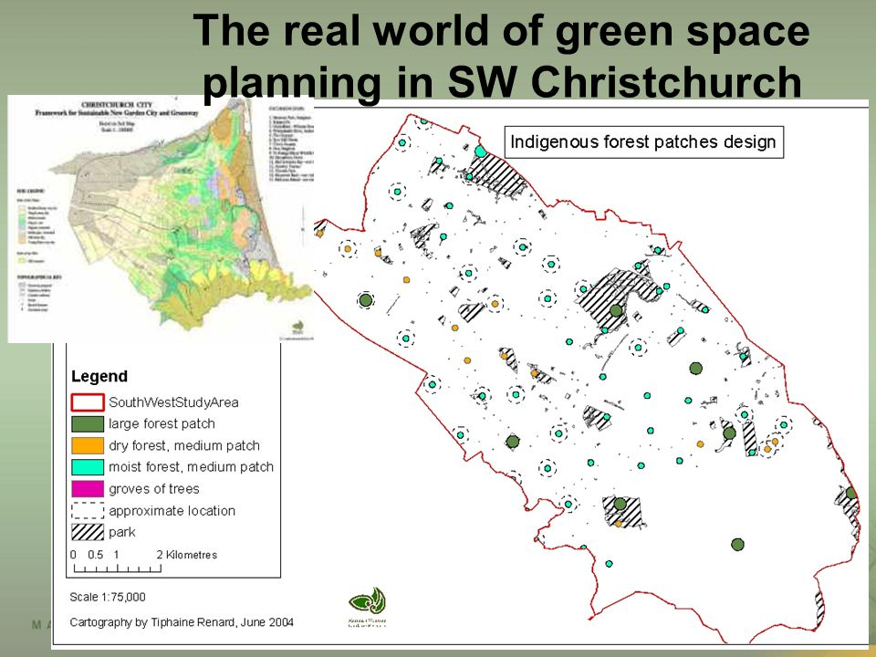 The real world of green space planning in SW Christchurch