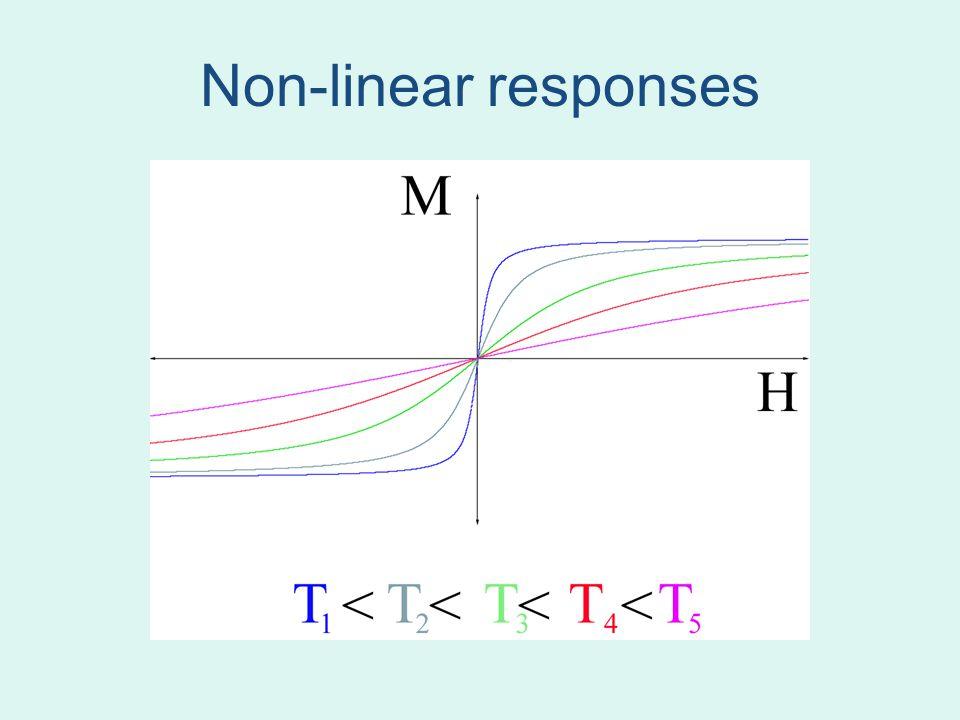 Non-linear responses