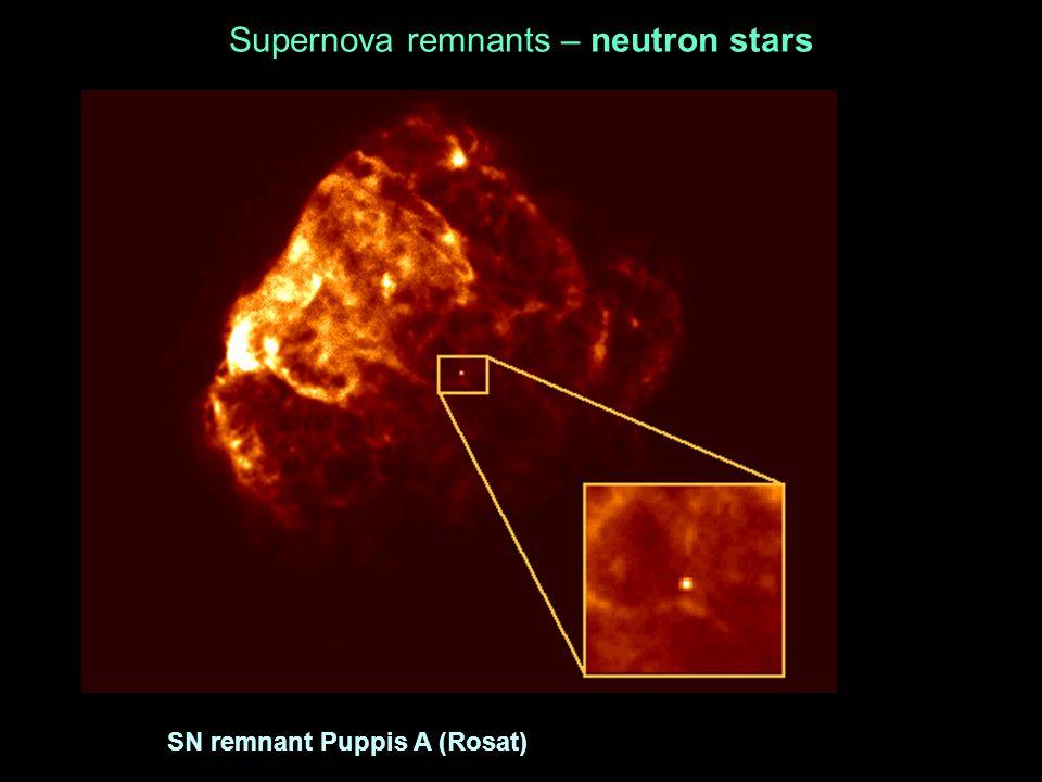 Supernova remnants – neutron stars SN remnant Puppis A (Rosat)