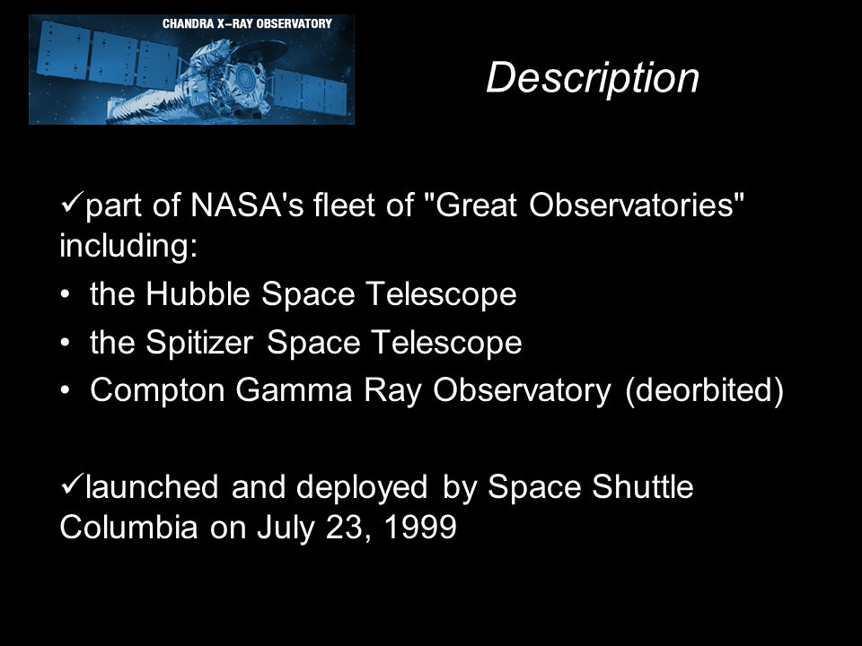 Description part of NASA's fleet of