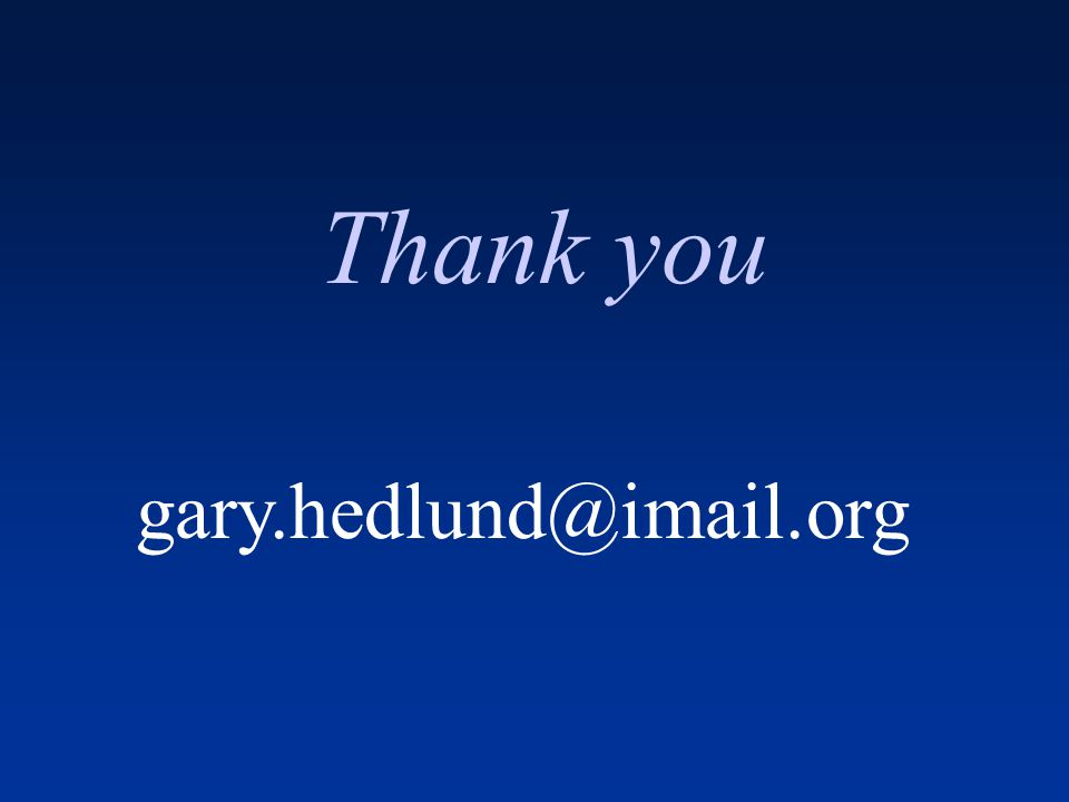 Thank you gary.hedlund@imail.org