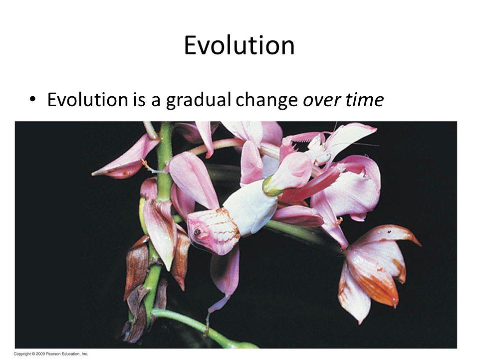 Evolution Evolution is a gradual change over time