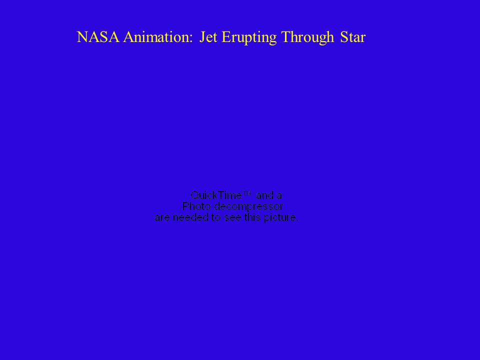 NASA Animation: Jet Erupting Through Star
