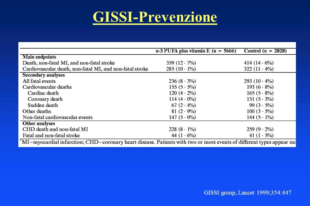 GISSI-Prevenzione GISSI group, Lancet 1999;354:447