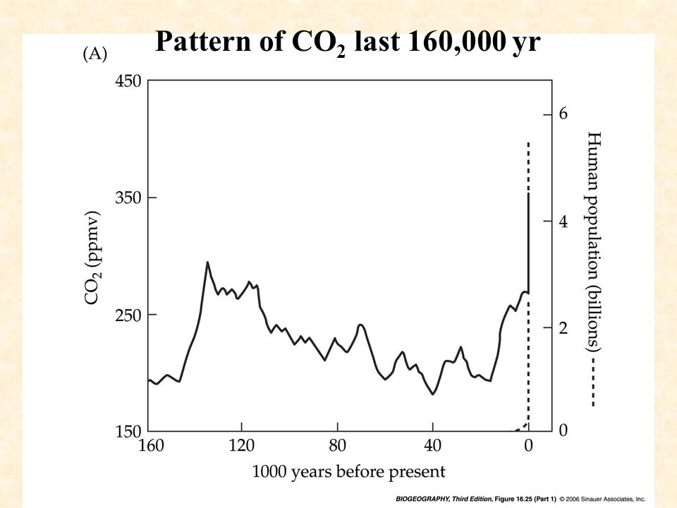 Pattern of CO 2 last 160,000 yr