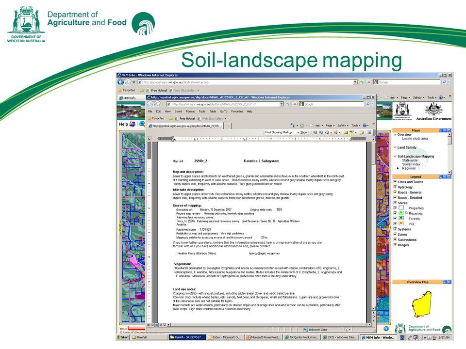 Soil-landscape mapping