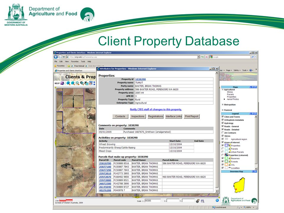 Client Property Database