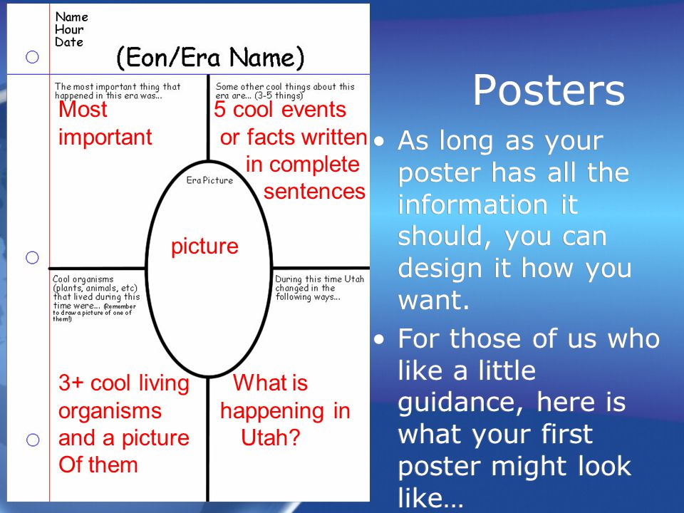 Posters As long as your poster has all the information it should, you can design it how you want. For those of us who like a little guidance, here is