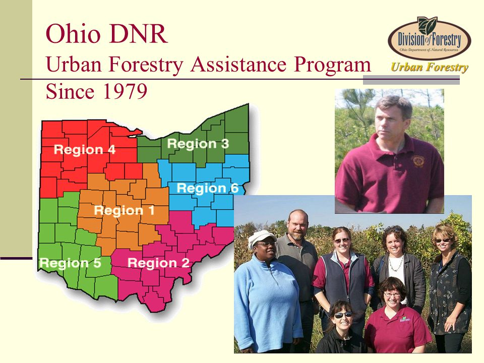 Ohio DNR Urban Forestry Assistance Program Since 1979