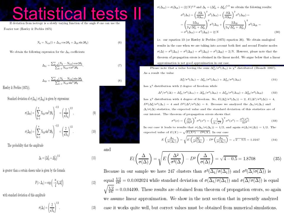 Statistical tests II