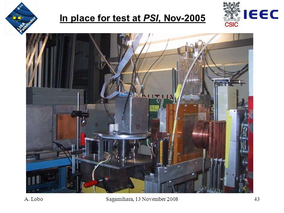 A. LoboSagamihara, 13 November 200843 In place for test at PSI, Nov-2005