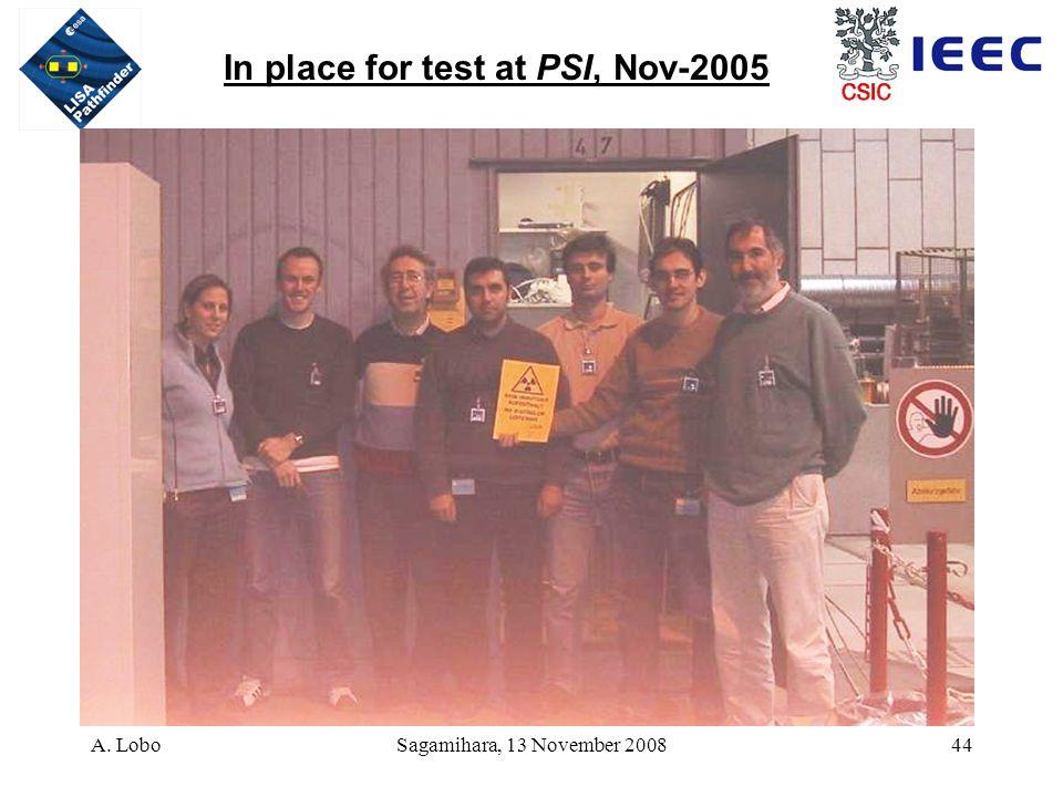 A. LoboSagamihara, 13 November 200844 In place for test at PSI, Nov-2005