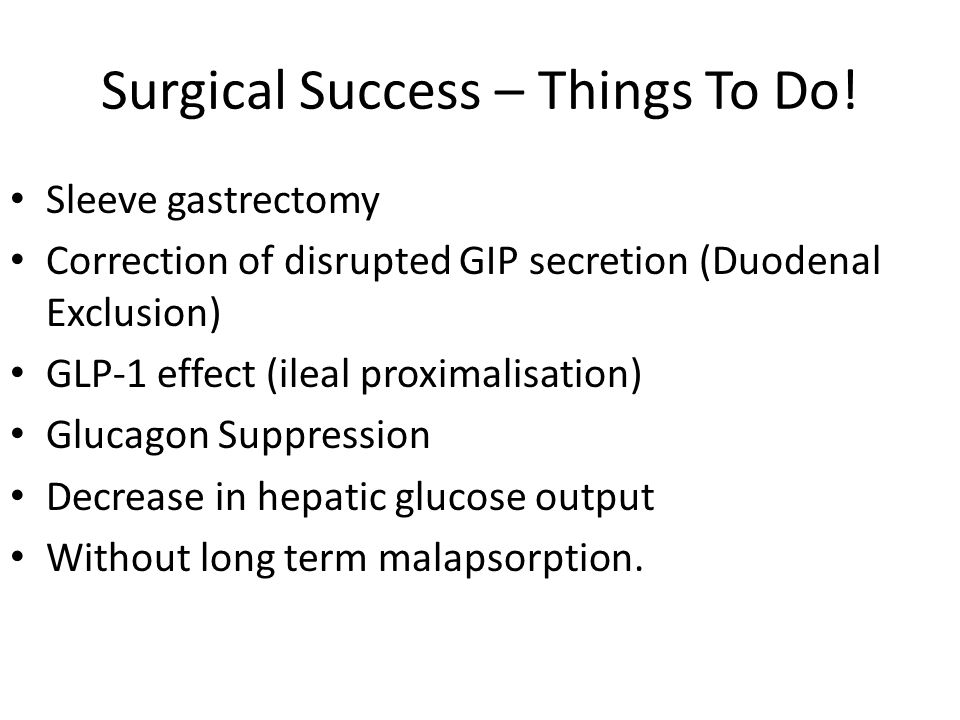 Surgical Success – Things To Do.