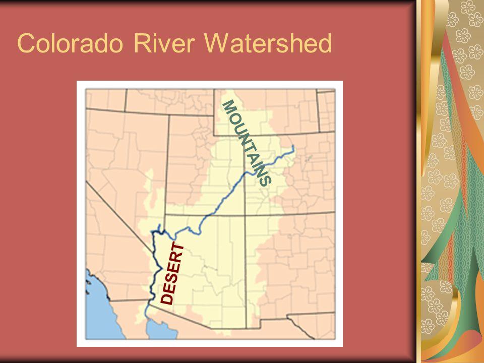 Colorado River Watershed D E S E R T M O U N T A I N S