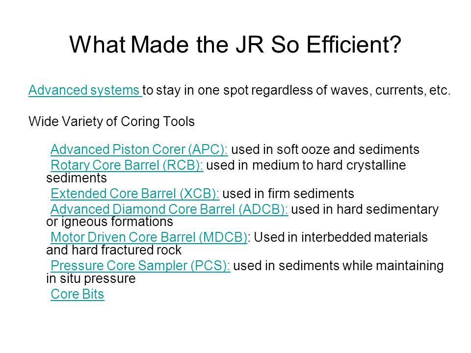 What Made the JR So Efficient.