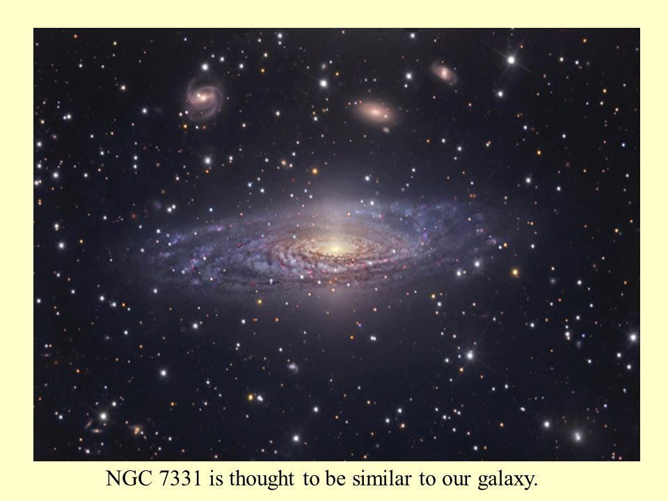 NGC 7331 is thought to be similar to our galaxy.