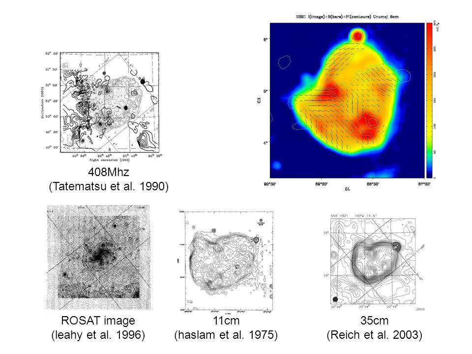 ROSAT image (leahy et al. 1996) 11cm (haslam et al.