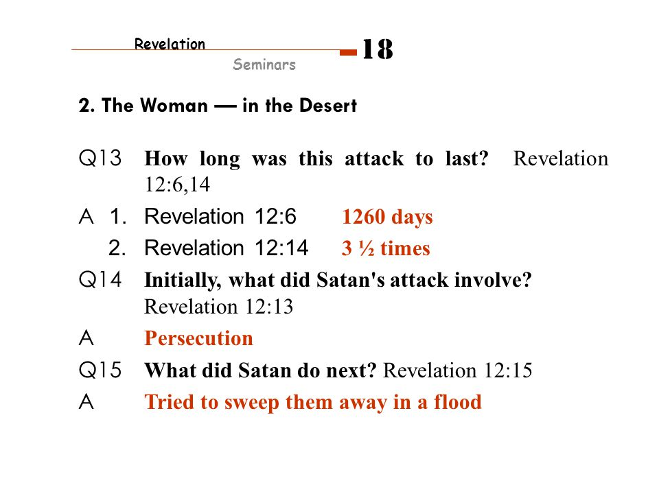 2.The Woman — in the Desert Q13 How long was this attack to last.