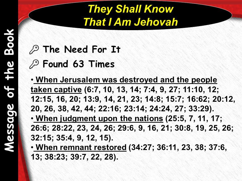 Outline of Ezekiel I.Judgment on Jerusalem (1 ‑ 24) A.