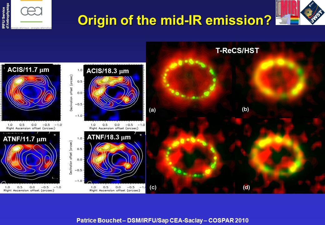 Patrice Bouchet – DSM/IRFU/Sap CEA-Saclay – COSPAR 2010 IRFU/ Service d'Astrophysiqu e Origin of the mid-IR emission.