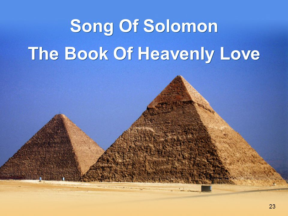 23 Song Of Solomon The Book Of Heavenly Love