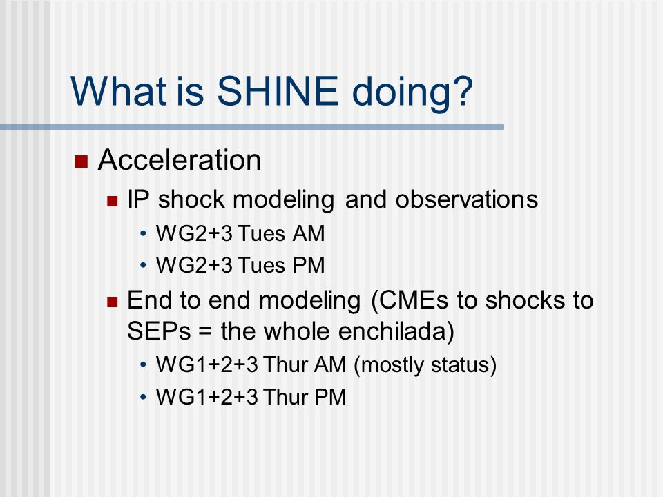 What is SHINE doing.