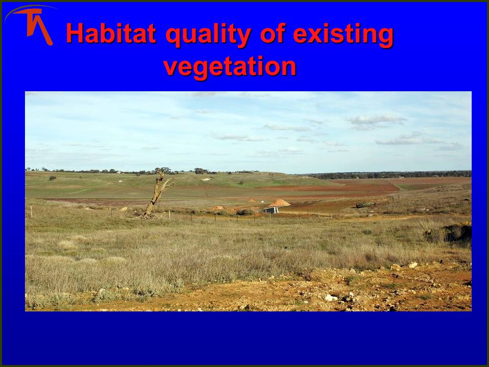 Habitat quality of existing vegetation