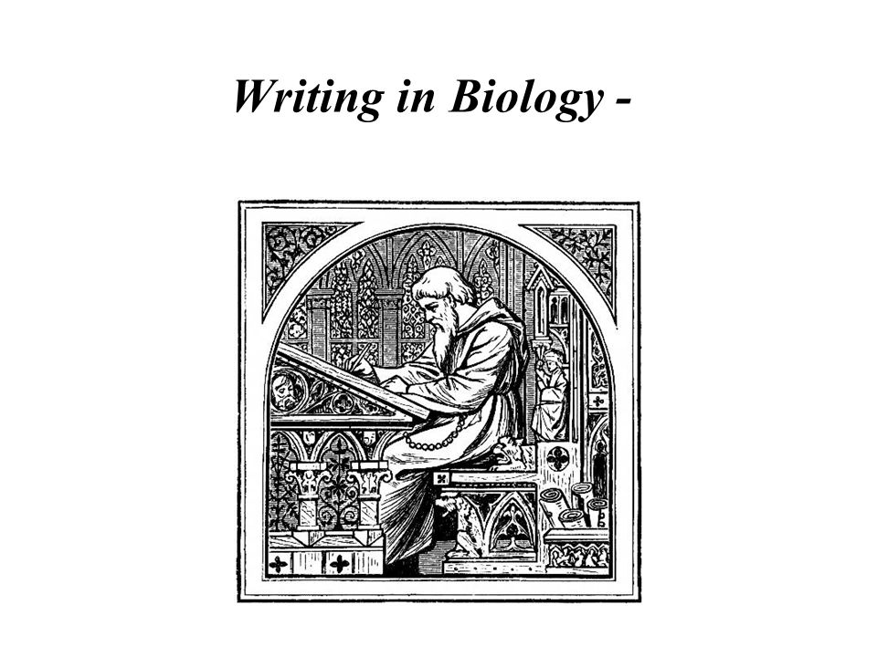 Writing in Biology -