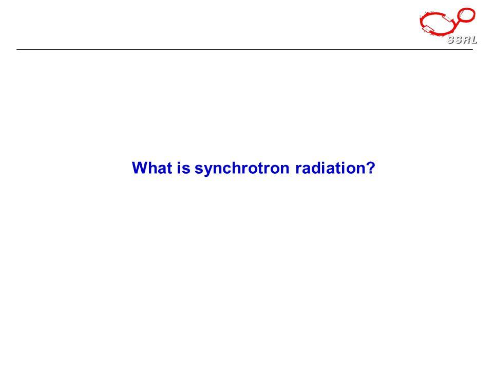 What is synchrotron radiation