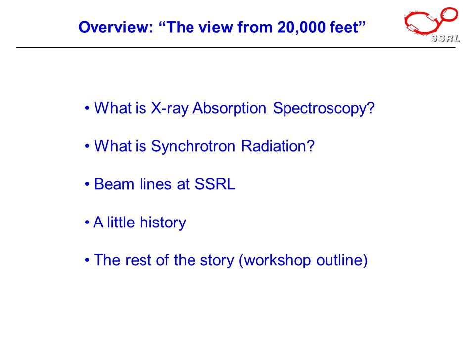What is X-ray Absorption Spectroscopy. What is Synchrotron Radiation.