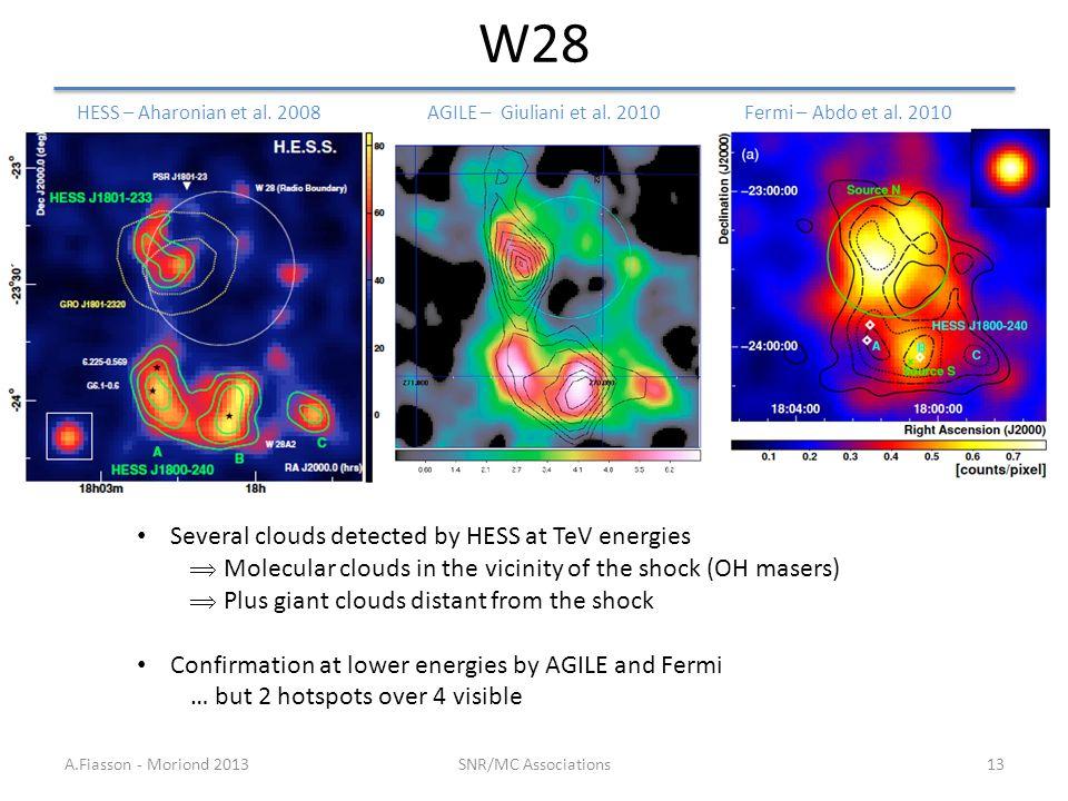 W28 A.Fiasson - Moriond 2013SNR/MC Associations13 Fermi – Abdo et al.