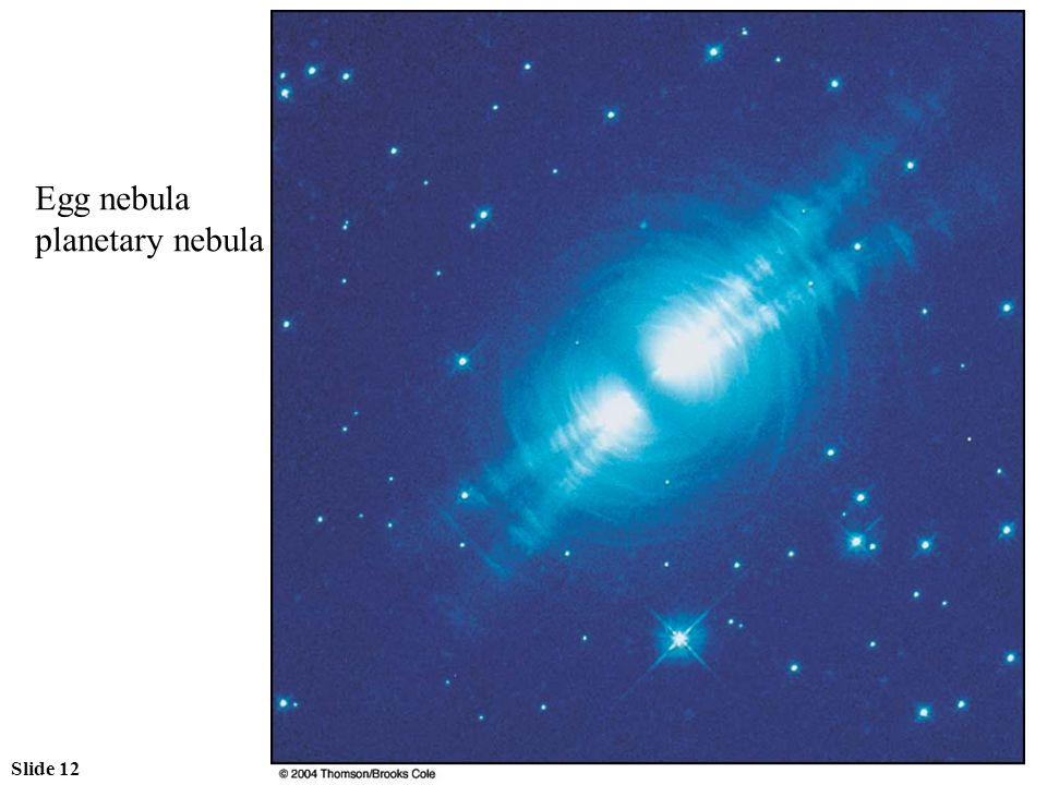 Slide 12 Egg nebula planetary nebula