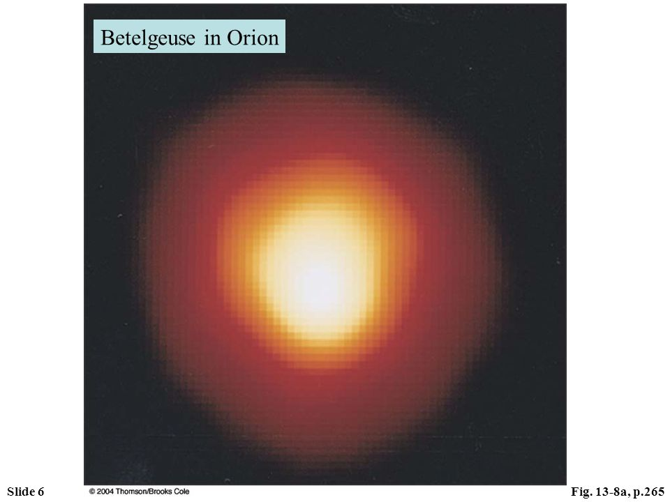 Slide 6Fig. 13-8a, p.265 Betelgeuse in Orion