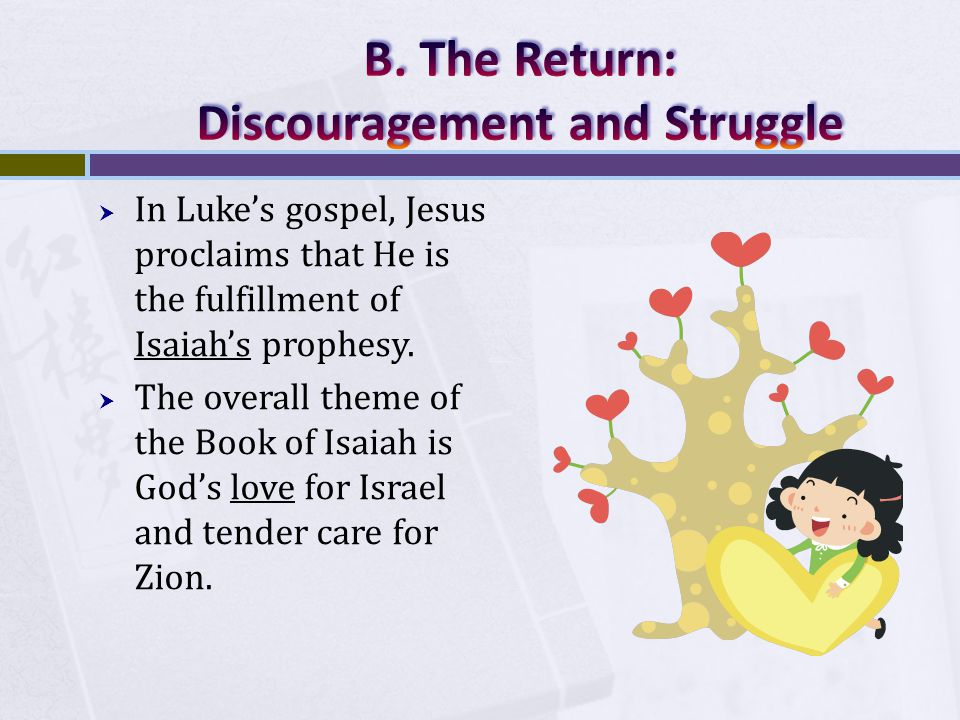  In Luke's gospel, Jesus proclaims that He is the fulfillment of Isaiah's prophesy.