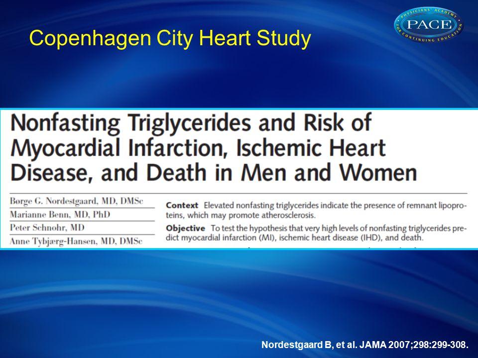 Nordestgaard B, et al. JAMA 2007;298:299-308. Copenhagen City Heart Study