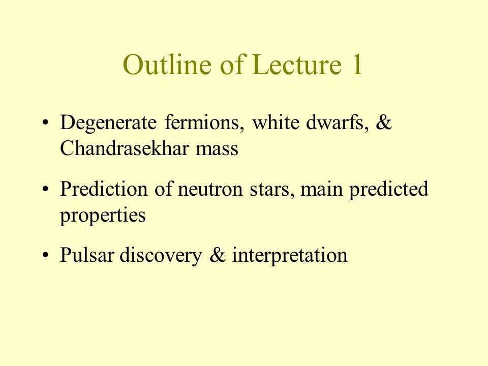 Neutron stars First approximation: Self-gravitating ball of non- interacting neutrons at T=0 Recall non-relativistic white dwarf: Neutron star (by analogy / scaling):