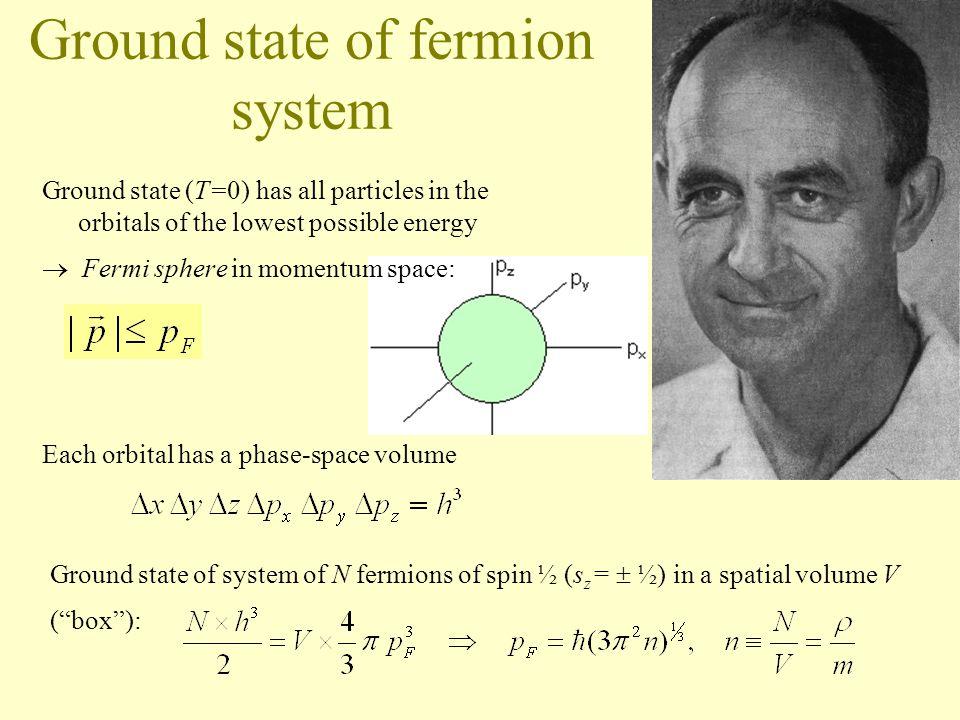 Pauli principle Fermions: particles of half-integer spin (½, 3/2,...): –electrons, protons, neutrons...