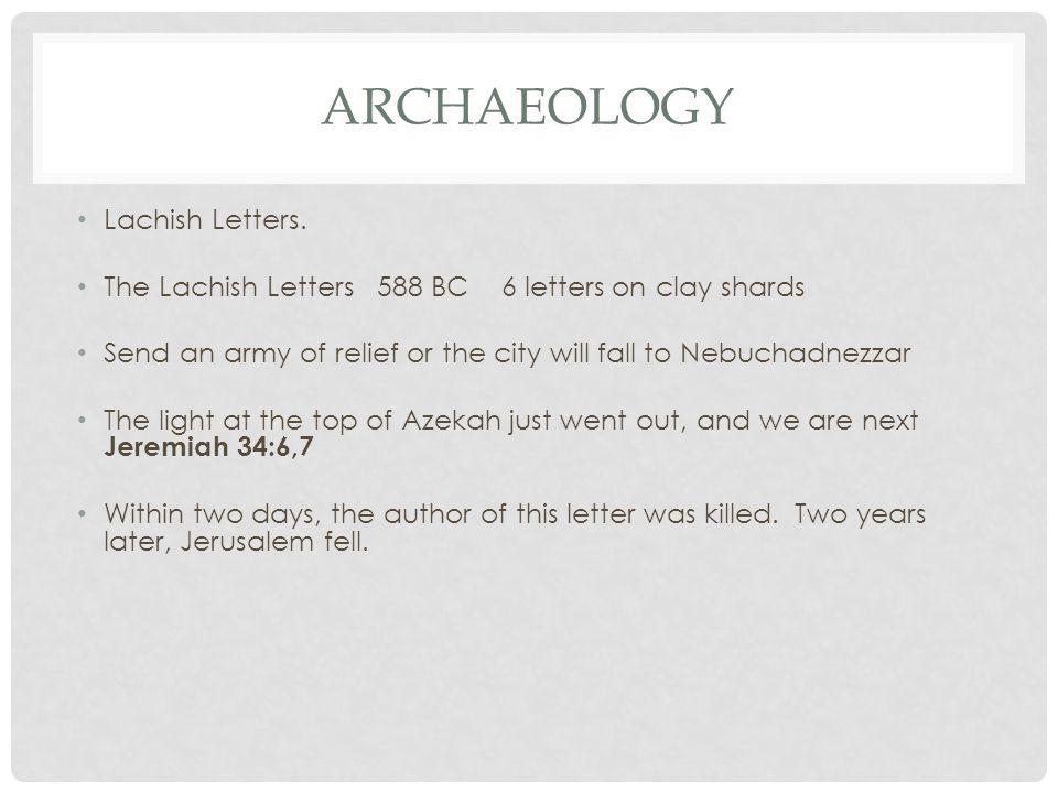 ARCHAEOLOGY Lachish Letters.