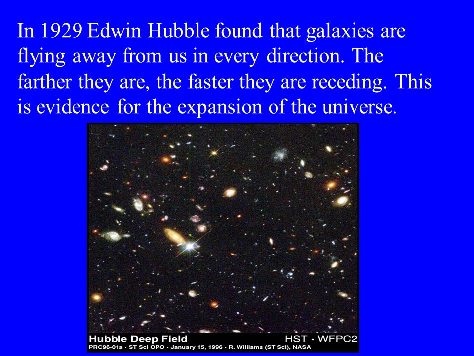 The Big Bang Scientists now believe that the universe began in a tremendous release of energy known as the Big Bang.